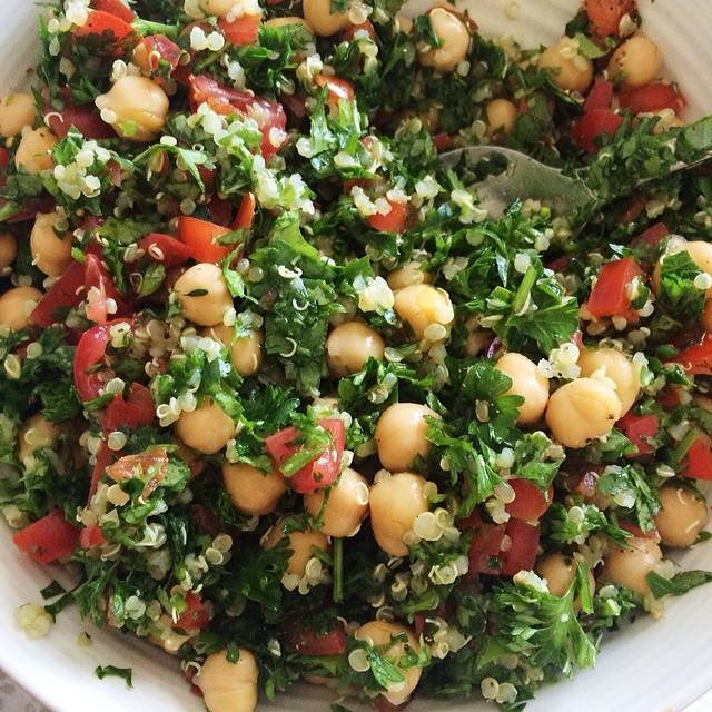 ... Gluten-Free (and guilt-free) Quinoa Tabbouleh Salad | Herbs & Words